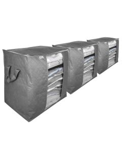 Pack of 3 Quilted Storage Bags - Regular