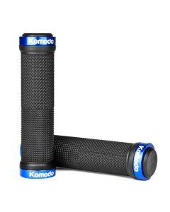 Double Lock Bike Grip Set - Blue