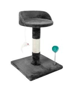 Chair Style Cat Tree - Grey