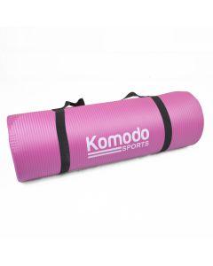 Komodo Non Slip Exercise Mat 15mm Thick Workout Mat - Pink