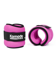 1kg Pink Neoprene Ankle Weights